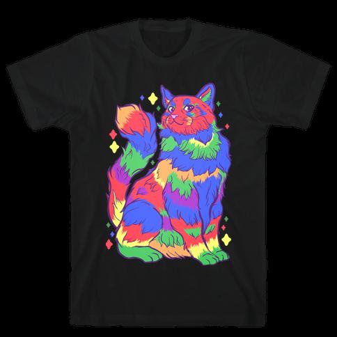 Gay Pride Cat Mens/Unisex T-Shirt