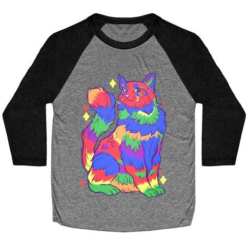 Gay Pride Cat Baseball Tee