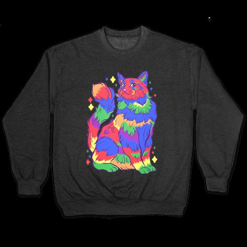 Gay Pride Cat Pullover