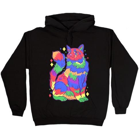 Gay Pride Cat Hooded Sweatshirt