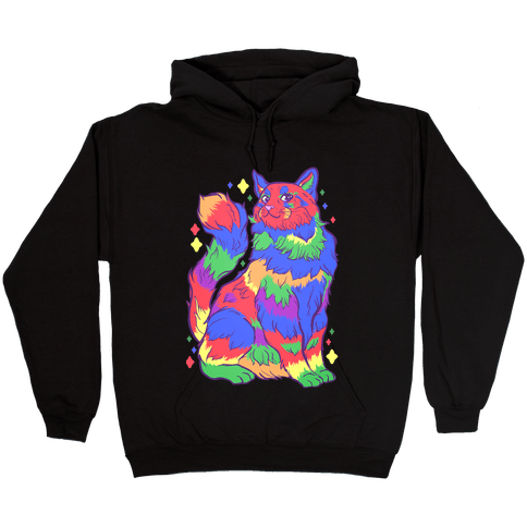 Gay Pride Cat Hooded Sweatshirt