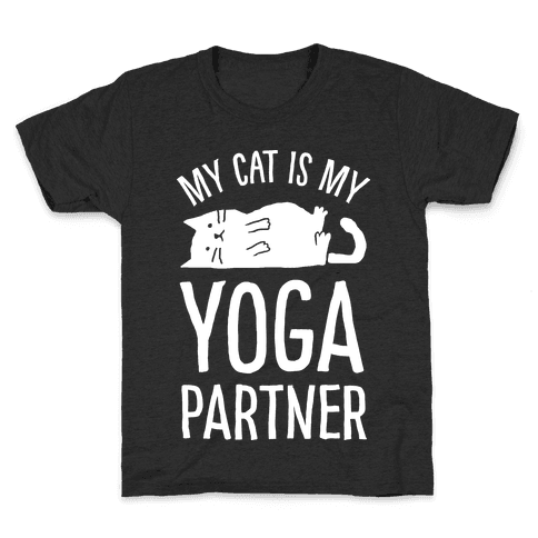 My Cat Is My Yoga Partner Kids T-Shirt