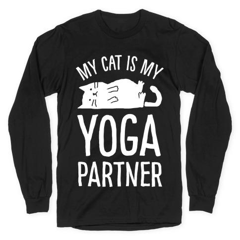 My Cat Is My Yoga Partner Long Sleeve T-Shirt