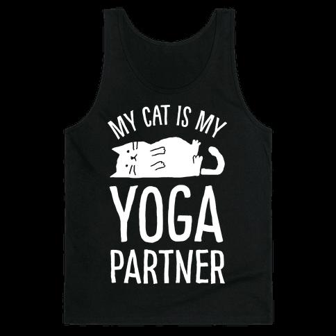 My Cat Is My Yoga Partner Tank Top