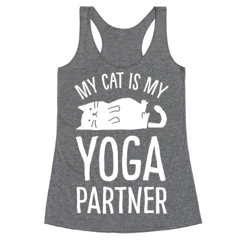 My Cat Is My Yoga Partner Racerback Tank Top