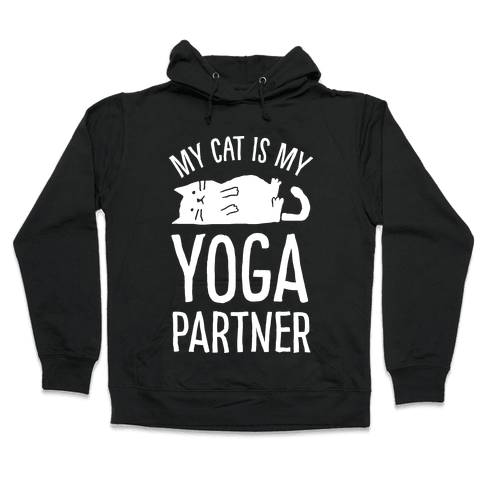 My Cat Is My Yoga Partner Hooded Sweatshirt