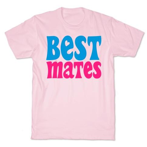 Best Mates White Print T-Shirt