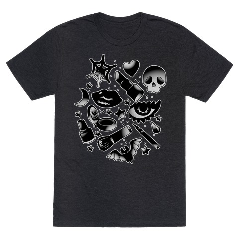 Goth Makeup Pattern T-Shirt