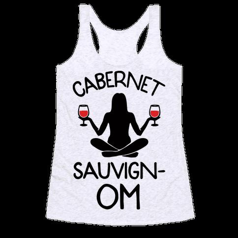 Cabernet Sauvign-OM Racerback Tank Top