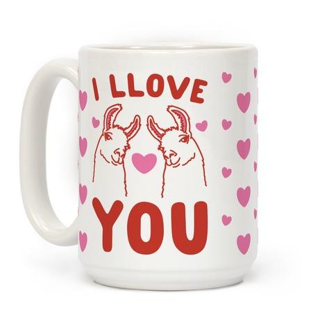I LLove You LLama Valentine parody Coffee Mug