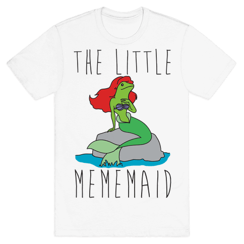 The Little Mememaid Parody Mens T-Shirt