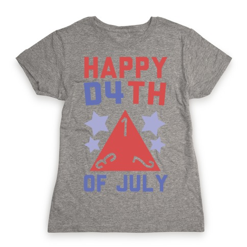 Happy D4th of July Womens T-Shirt