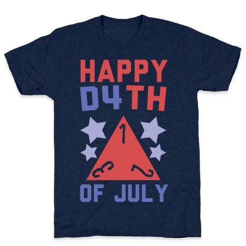 Happy D4th of July Mens T-Shirt