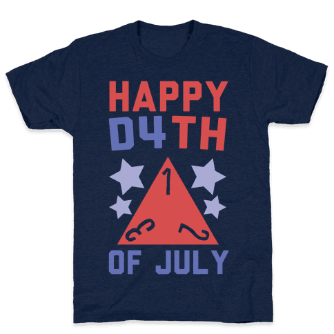 Happy D4th of July Mens T-Shirt