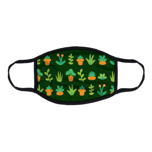Graphic Plants Pattern Flat Face Mask