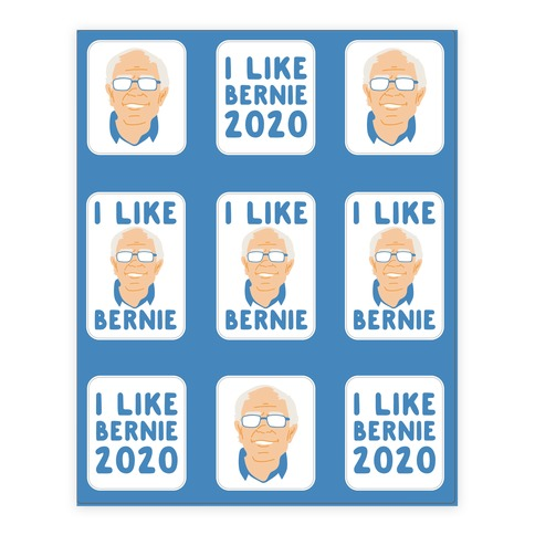 I Like Bernie Sticker and Decal Sheet