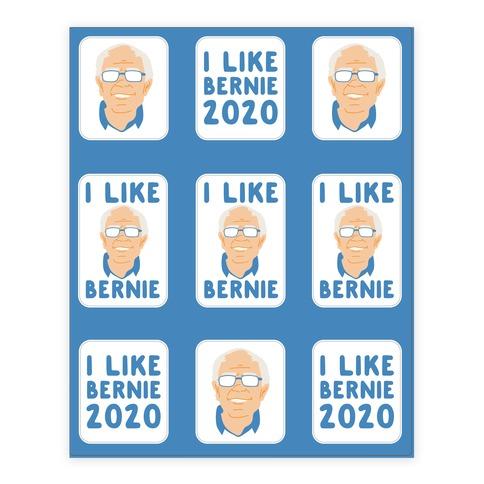 I Like Bernie Sticker/Decal Sheet