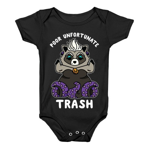 Poor Unfortunate Trash Raccoon  Baby Onesy