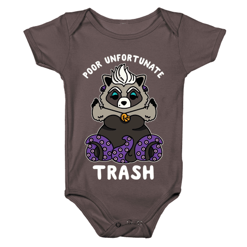 Poor Unfortunate Trash Raccoon Baby One-Piece