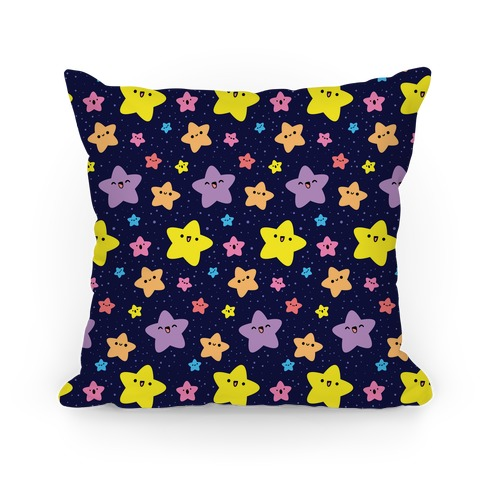Cute Stars Pattern Pillow