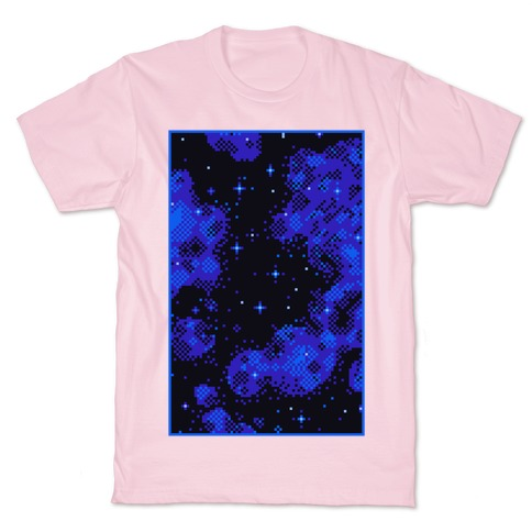 Pixelated Blue Nebula T-Shirt