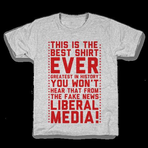 Fake News Liberal Media Kids T-Shirt