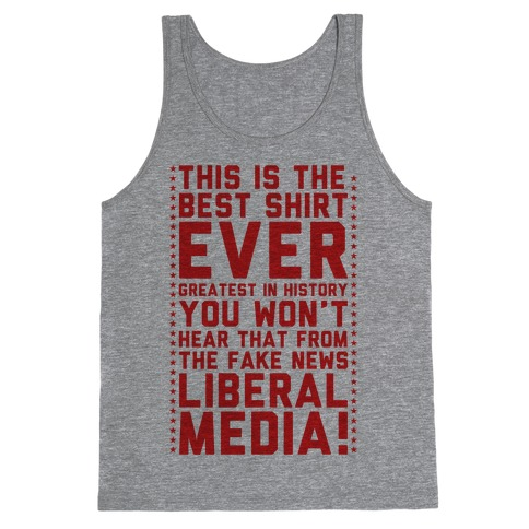 Fake News Liberal Media Tank Top
