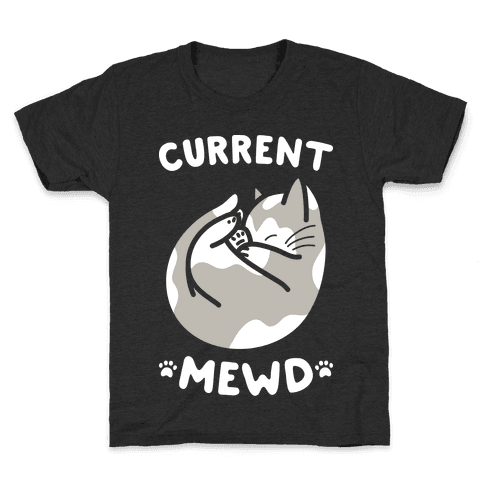 Current Mewd: Catnap (White) Kids T-Shirt