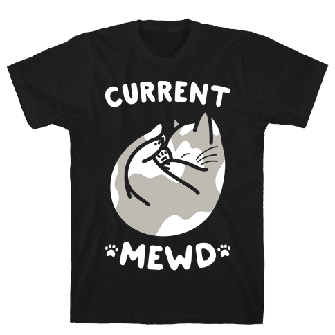 Current Mewd: Catnap (White) Mens T-Shirt