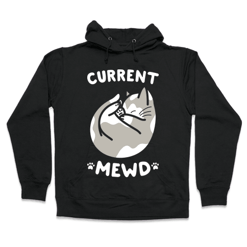 Current Mewd: Catnap (White) Hooded Sweatshirt