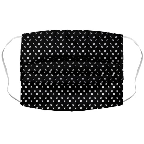 Dainty Squares Pattern Black Accordion Face Mask
