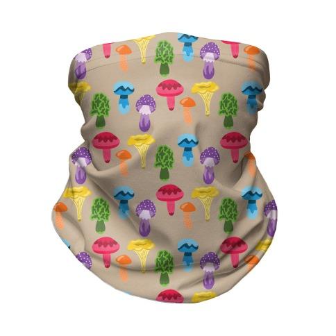 Gay Mushroom Pattern Neck Gaiter