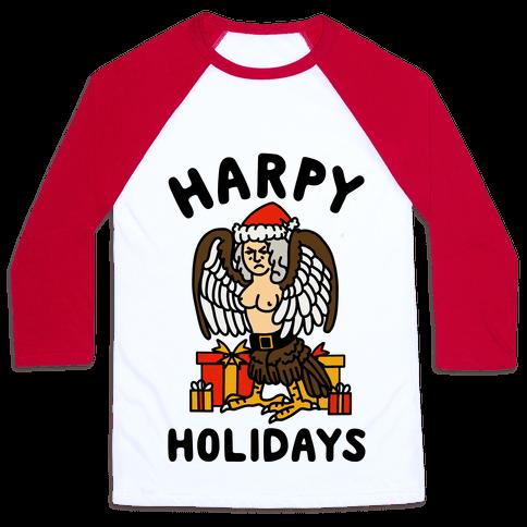 Harpy Holidays Baseball Tee