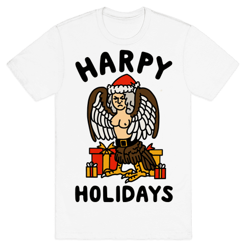 Harpy Holidays Mens T-Shirt