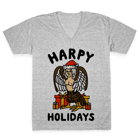 Harpy Holidays V-Neck Tee Shirt