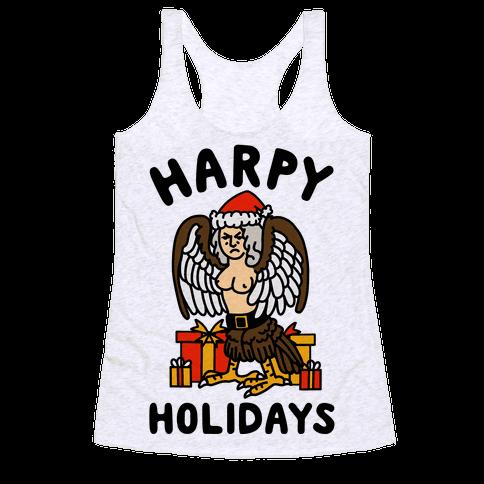 Harpy Holidays Racerback Tank Top