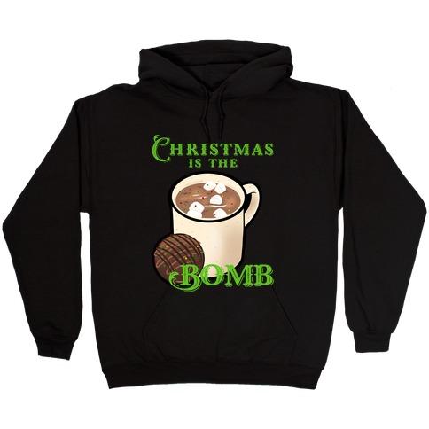 Christmas Is The Bomb Hooded Sweatshirt