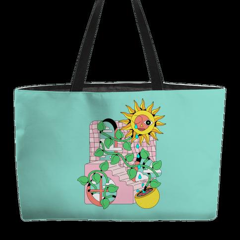 Trippy Sunflower Shower  Weekender Tote