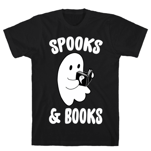 Spooks and Books Mens T-Shirt
