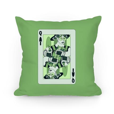Queen Of Garden Spades Pillow