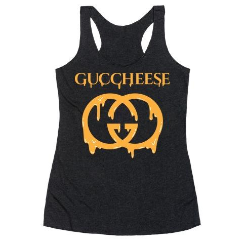 Guccheese Cheesy Gucci Parody Racerback Tank Top