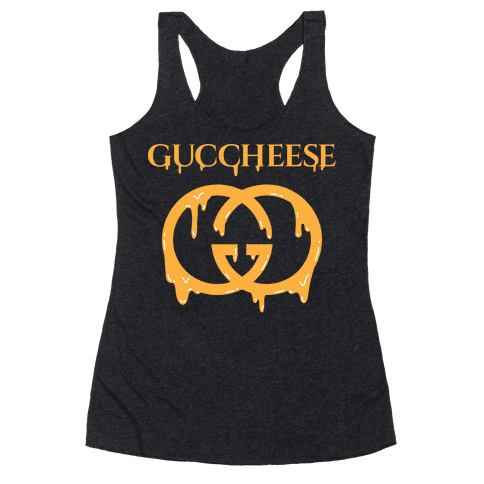 Guccheese Cheesy Gucci Parody Racerback Tank Top