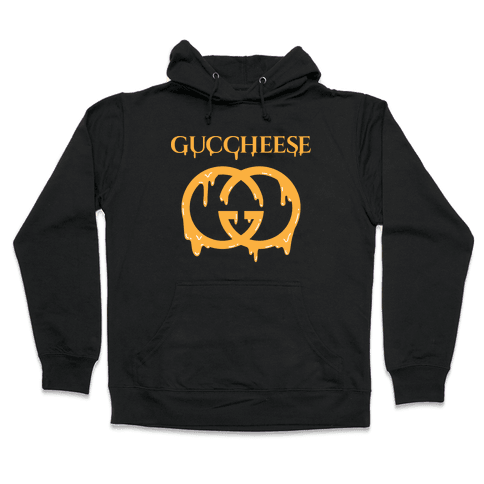 Guccheese Cheesy Gucci Parody Hooded Sweatshirt