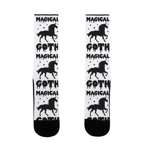 Magical Goth Unicorn Sock