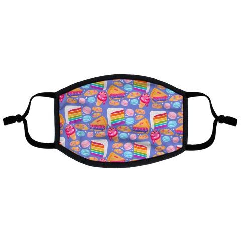 LGBTQ Desserts Pattern Flat Face Mask