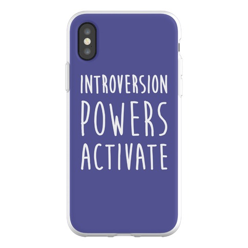 Introversion Powers Activate Phone Flexi-Case