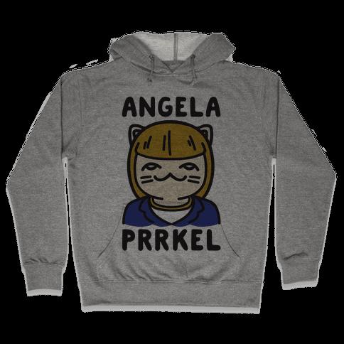 Angela Prrkel Parody Hooded Sweatshirt