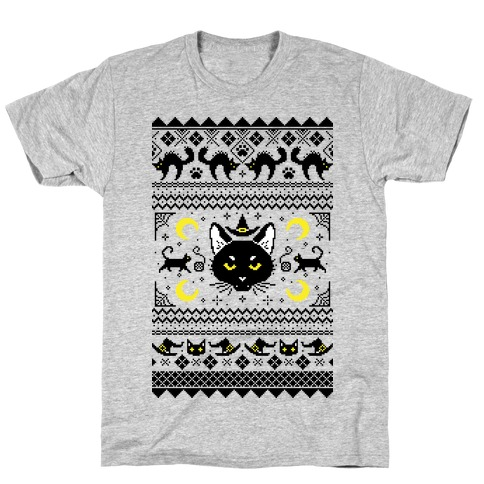Witchy Black Cats Ugly Sweater T-Shirt
