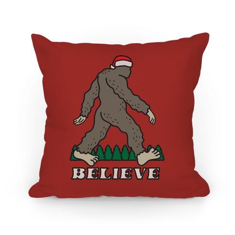 Santa Sasquatch Pillow