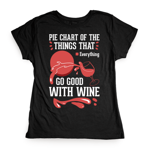 Everything Goes Good With Wine Womens T-Shirt